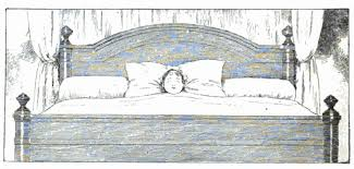 Drawing Of A Bed Big Bed Little Kid Reusableart Com