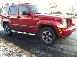 red jeep liberty 2008 jeep liberty sport 4x4 in red rock crystal pearl photo 4