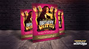 photoshop birthday bachelor party flyer template youtube