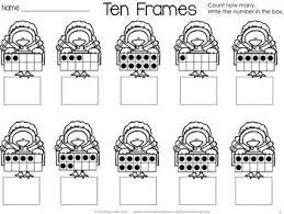 free thanksgiving turkey ten frames kindergarten freebies