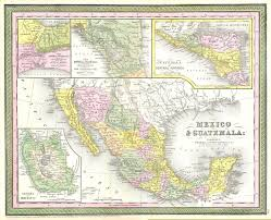 Texas Mexico Border Map by File 1850 Mitchell Map Of Mexico Texas Geographicus