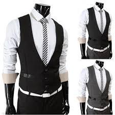 high quality vest suit single breasted formal mens vests slim