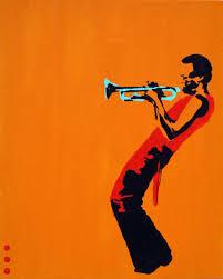 pop art miles on orange painting framed paintings for sale