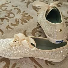 wedding shoes size 9 kate spade for keds nwot size 9 a stunning pair of white glitter