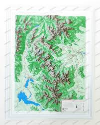 Rocky Mountain Map 3d Relief Map Rocky Mountain National Park Wall Maps