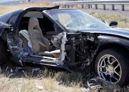 corvette car crash 1 sent to hospital after corvette crashes on i 15 st george