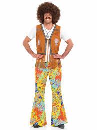 halloween hippie costumes mens 60 u0027s hippie fringed waistcoat fs3332 fancy dress ball