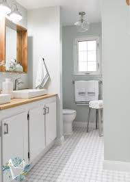 modern farmhouse bathroom reveal the weathered fox