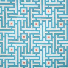 Geometric Fabrics Upholstery Turquoise Orange Geometric Upholstery Fabric For Furniture