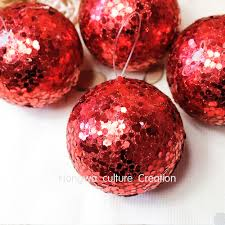 Christmas Glitter Ornaments 7cm Red Blue Glitter Covered Ball Wedding Decoration Christmas