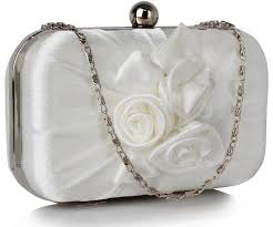 wedding bags bridal clutch bag in ivory beaded satin wedding bags at stardust