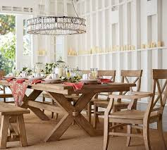 pottery barn dining room tables brilliant dining room table for toscana extending alfresco brown