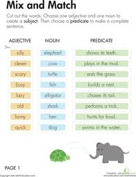 subject and predicate worksheets 5th grade worksheets
