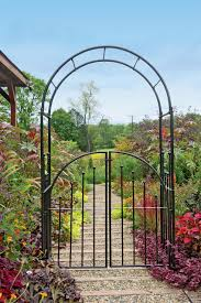 belham living gated hodgson garden metal arbor with matching