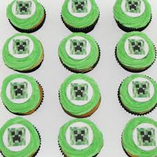 minecraft cupcakes minecraft creeper cupcakes x 12 buttercream that s my cake