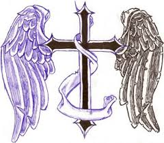 wings cross tattoos design image from itattooz