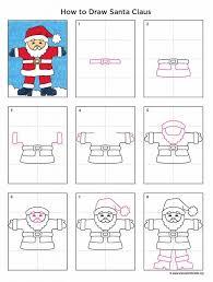 santa claus tutorials drawings and