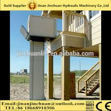 outdoor vertical stair electric hydraulic wheelchair lift for