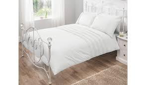 Asda Garden Furniture George Home 100 Cotton White Pintuck Duvet Set Duvet Covers