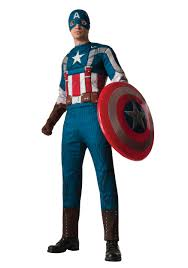 Captain Halloween Costume Retro Captain America Muscle Chest Costume