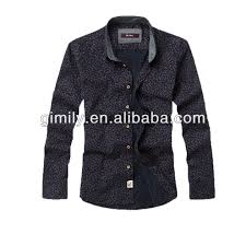 men model shirt fabric square neck design european shirt for