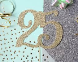 25 cake topper anniversary cake etsy