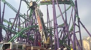 Six Flags Highest Ride Firefighters Rescue 24 From Stalled Roller Coaster At Six Flags