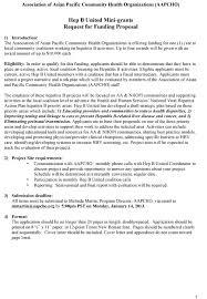 hep b united mini grants request for funding proposal aapcho