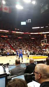 american airlines arena section flagship north row 3 seat 5