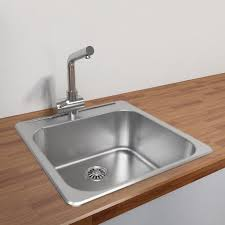 Dekor Kitchen Sinks Single Basin Kitchen Sink 100 33x19 Stainless Steel Kitchen Sinks