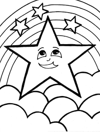 star coloring pages five pointed star coloring page free printable
