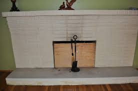 painting a brick fireplace the salted home