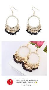 earrings malaysia p117344 black cloth bohemian hook earrings malaysia h0142