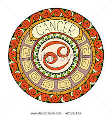 zodiac themes for android zodiac signs theme mandala cancer zodiac stock vector 423381124