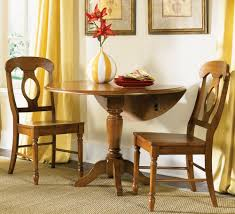 round drop leaf dining table