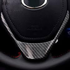 toyota rav4 steering wheel cover carbon fiber abs emblem steering wheel cover sticker for toyota
