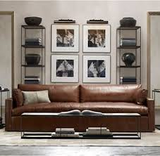 Lancaster Leather Sofa Kensington Luxe Depth Standard Fill Vintage Cigar Leather Sofa