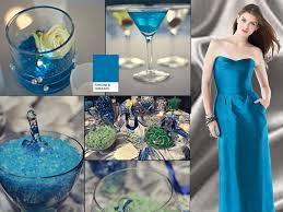 colorful cerulean pantone wedding styleboard the dessy group