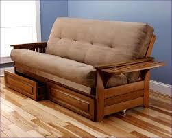 furniture modern futon double futon sofa bed dark wood futon