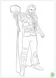 Thor Coloring Page Dinokids Org Thor Coloring Page