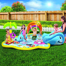 amazon com banzai baby sprinkles splish splash pool toys u0026 games