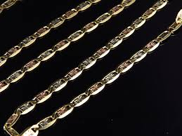 tone gold necklace images Genuine solid 10k tri tone gold valentino style 4mm chain necklace jpg