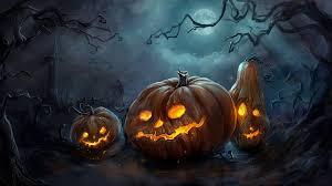 wallpaper fantasy pumpkin halloween moon night time 1920x1080