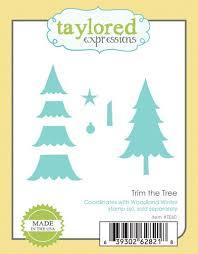trim the tree christmas dies for cards u0026 crafts te