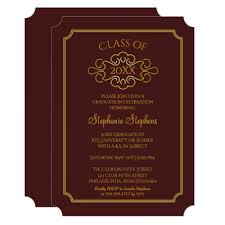 maroon and gold wedding maroon and gold 2017 graduation card zazzle