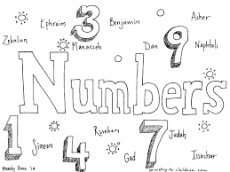 book of numbers bible coloring page for children and toddler pages
