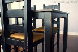 How To Paint Furniture Black by Black Distressed Table Makeover U2014 The Thinking Closet