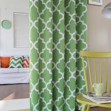 hopeful printing mint green curtains of blended materials chs2040