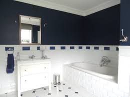 bathroom blue and white ideas small navy floor tiles red rugs