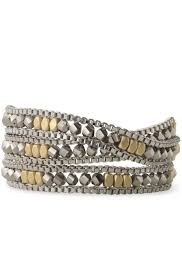 wrap bracelet images Glass bead brass box chain wrap bracelet luna wrap bracelet jpg